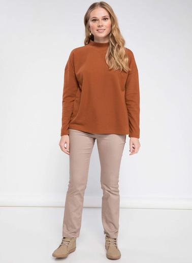 DeFacto Uzun Kollu T-shirt Oranj
